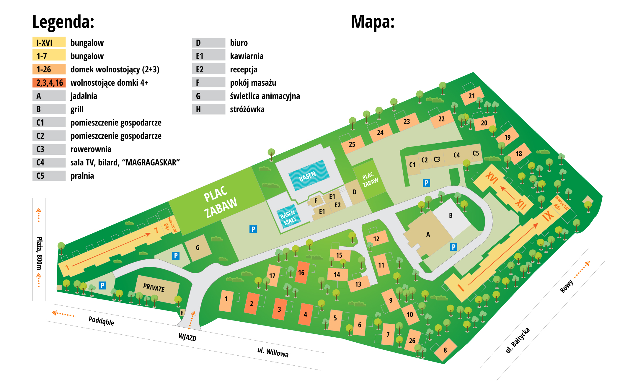 mapa ośrodka magra holiday club